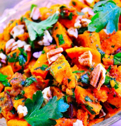 Bacon & Brown Sugar Roasted Sweet Potato Salad