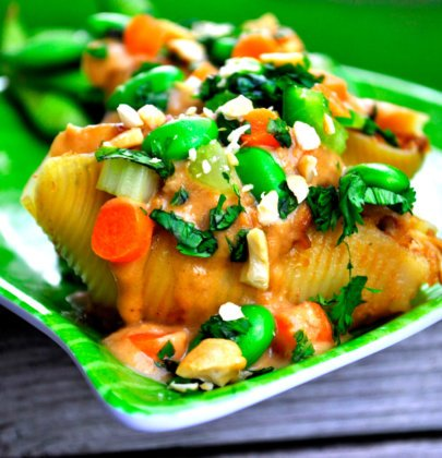 Thai Peanut Stuffed Shells