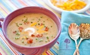 Skinny Loaded Baked Potato Soup