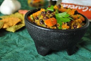Roasted Butternut Squash & Black Bean Salsa