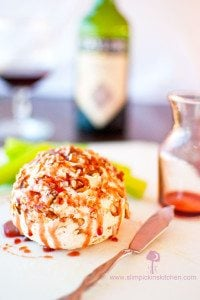 Scrumptious Port Wine Cheese Ball with a Drizzly Port Wine Reduction