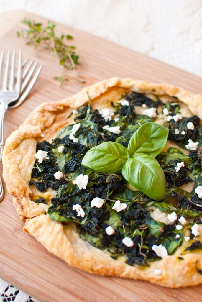 Spinach and Goat Cheese Galette-007