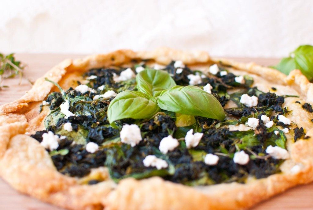 Spinach and Goat Cheese Galette-012