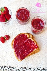Crock Pot Rhubarb Strawberry Jam