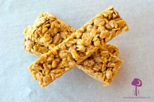 Chewy Peanut Butter & Honey Granola Bars