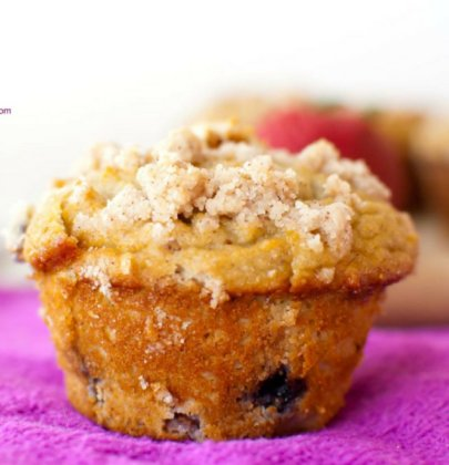 Grain-Free Double Berry Crumb Muffins