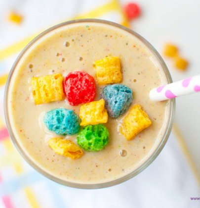 Crunch Berry Cereal Breakfast Shake