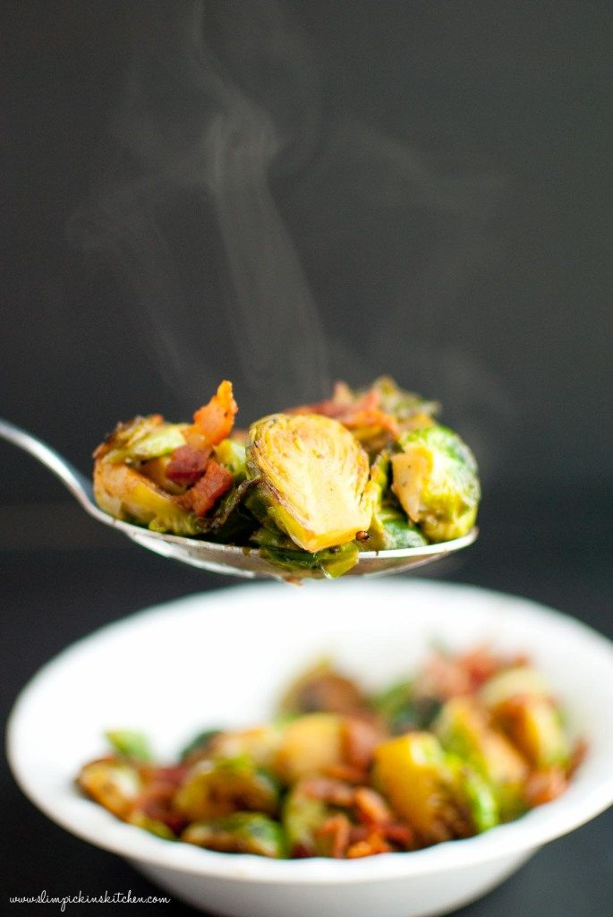 Apple Cider Glazed Brussels Sprouts * Slim PIckin's Kitchen