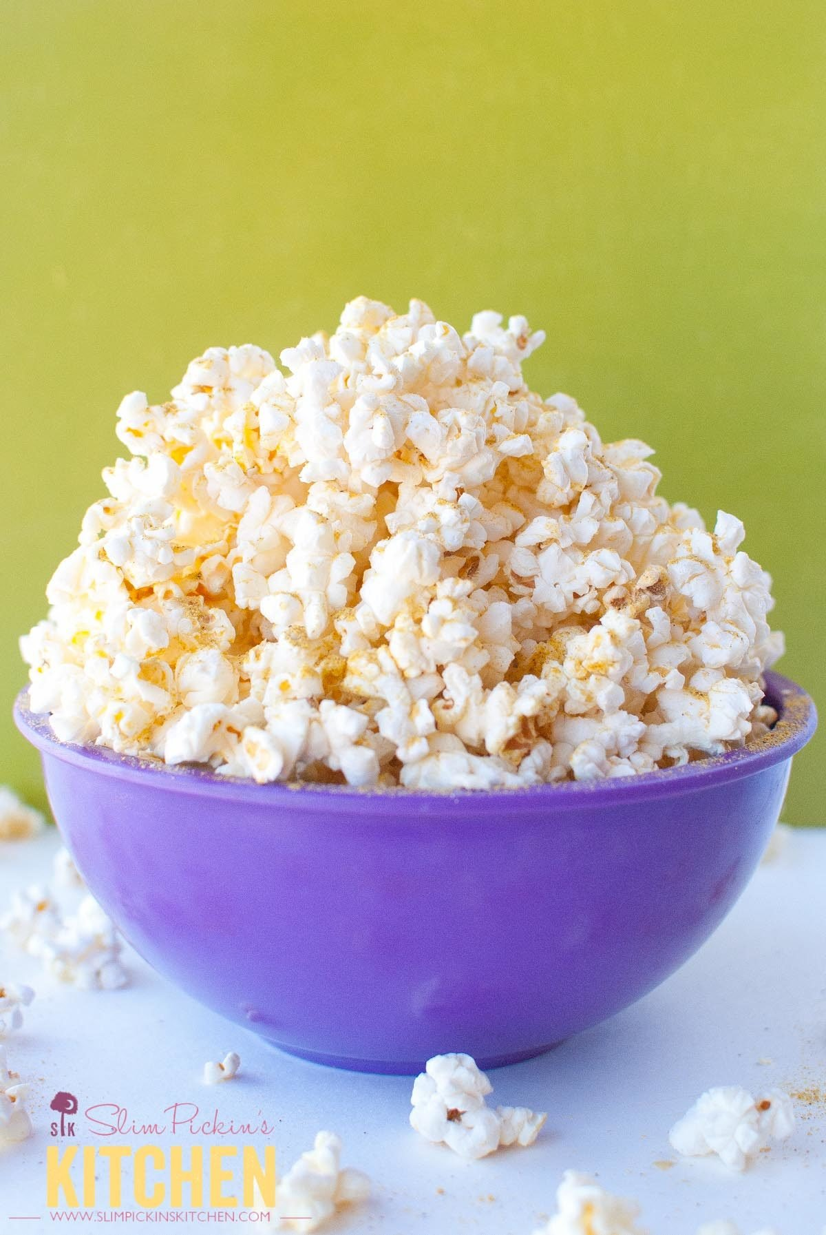 Vegan Noocho Cheese Popcorn * Slim Pickin's Kitchen