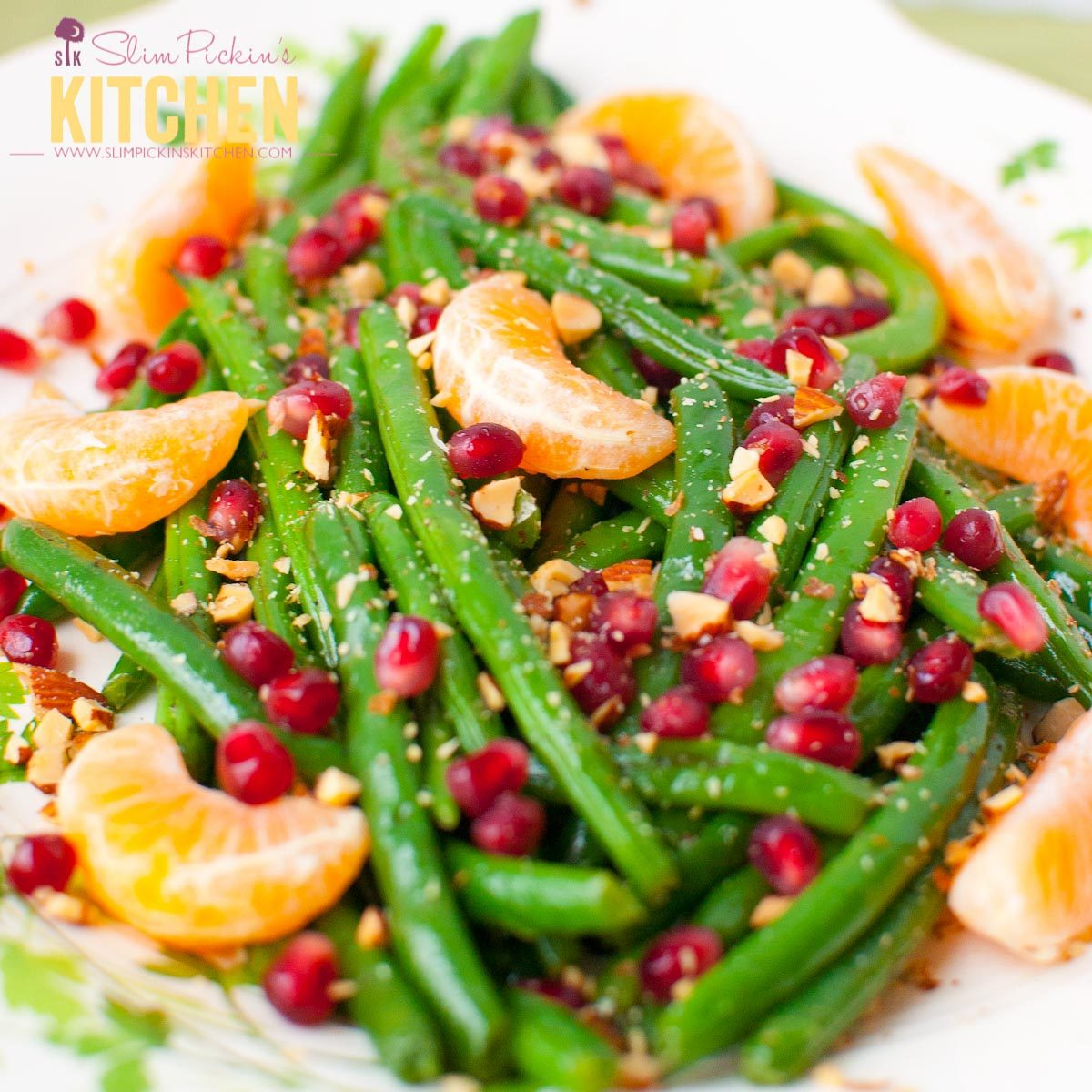 Green Bean Almondine with Pomegranate and Clementines (1 of 1)-2