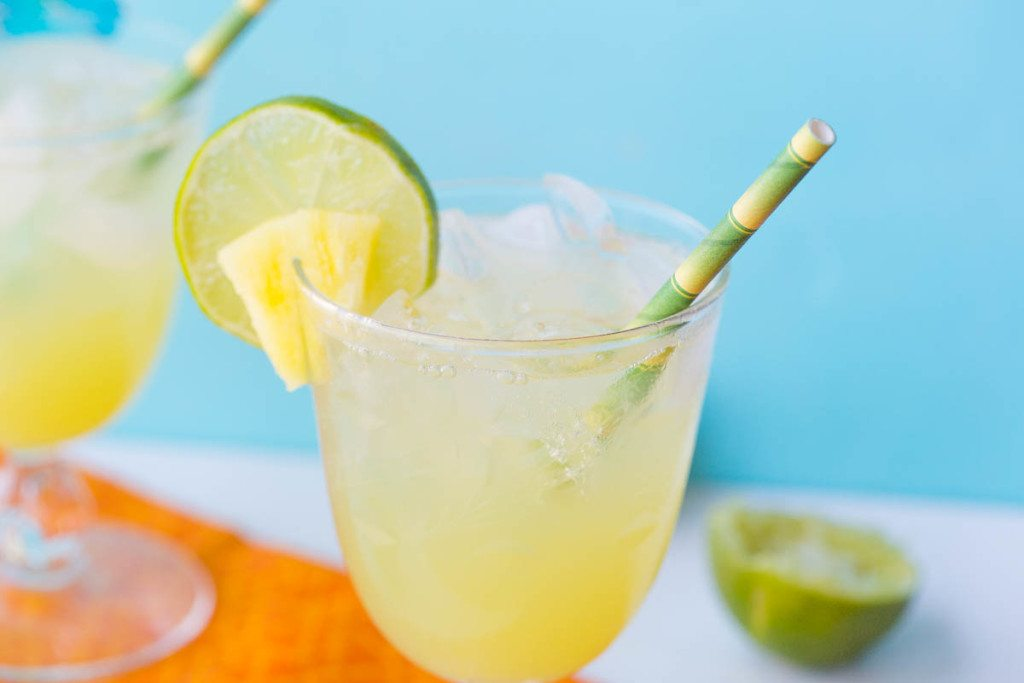 Pineapple Passion Fruit Vodka Spritzers: These passion fruit vodka spritzers are light and fizzy and are the perfect cocktail to sip on a hot summer day.