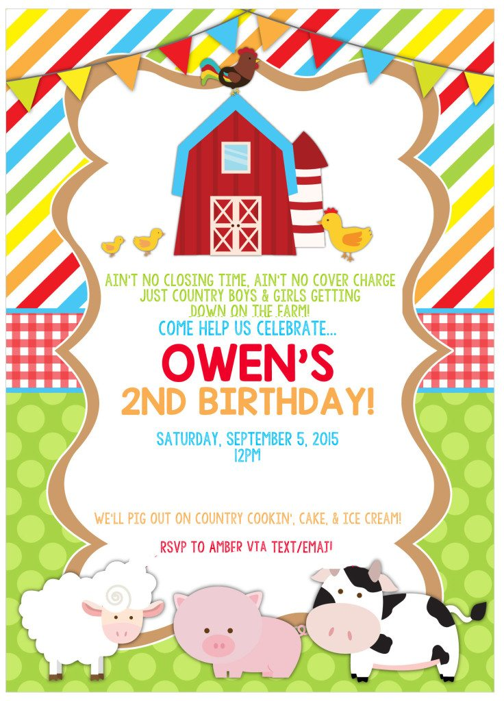 Owen's 2nd Barnyard Birthday Bash and a Pigs In Mud Cake!