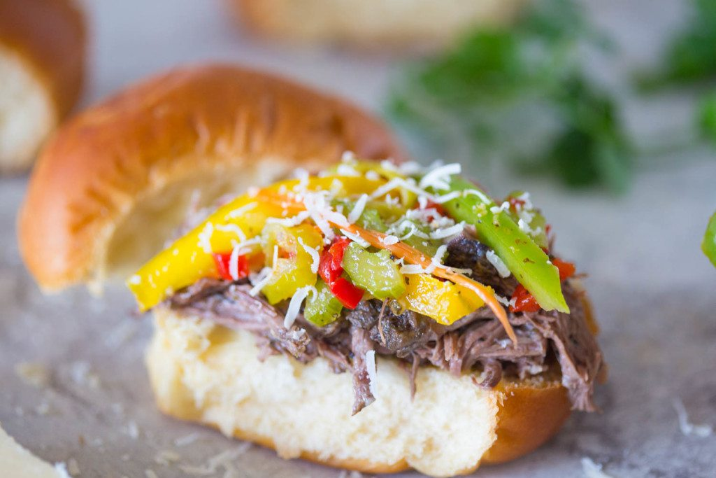 Slow Cooker Italian Beef with Homemade Giardiniera-2