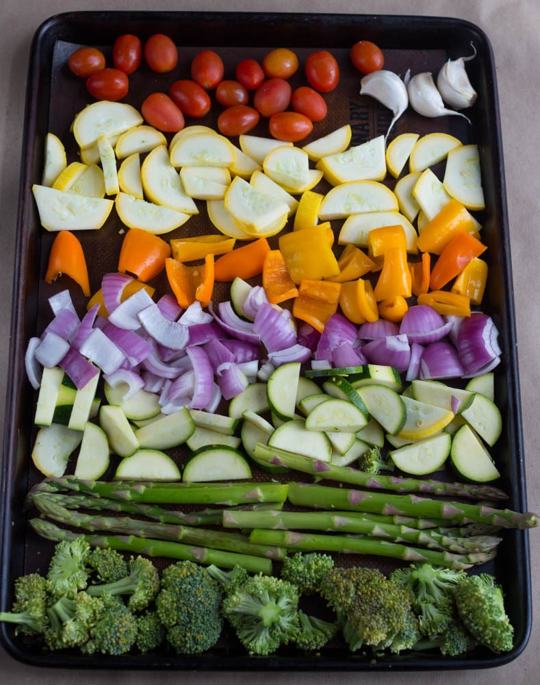 Lemon Parmesan Roasted Vegetables | Easy and Healthy Side Dish Recipe