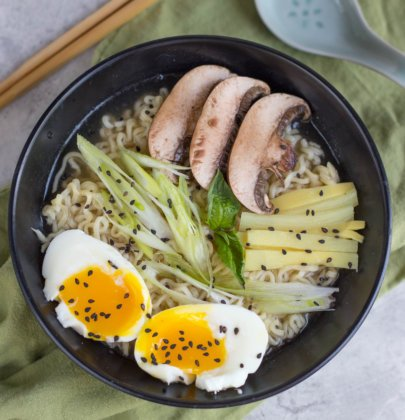 Instant Pot Tonkotsu Ramen from The Crumby Kitchen