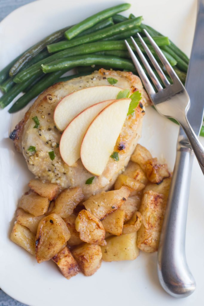 Sheet Pan Brown Sugar Pork Chops with Apples and Green Beans | Ministry Meals | Ministry Meals | Sheet Pan Suppers