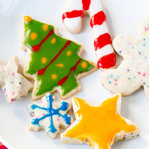 Christmas Cutout Cookies.Easy Cut Out Shortbread Cookies Easy Christmas Cookies