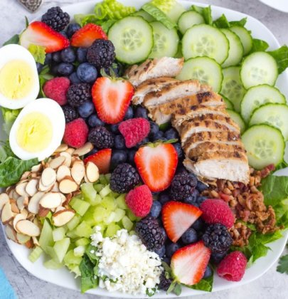 Mixed Berry Cobb Salad w/ Goat Cheese Vinaigrette