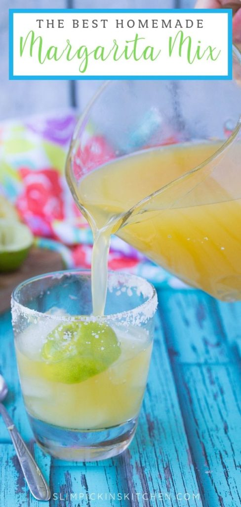 pinterest image of homemade margarita mix
