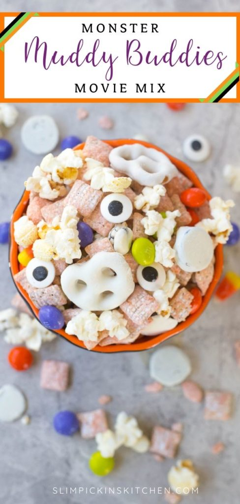 Monster Muddy Buddies Movie Mix Pinterest Image